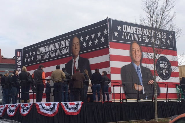 netflix sets up frank underwood campaign headquarters in south carolina house of cards greenville
