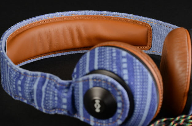 house of marley riddim on ear headphones em_jh053_sk canvas and leather headband