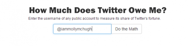 how much twitter owes you