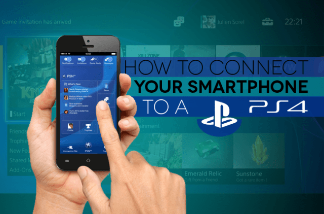 How to connect smartphone to a PS4