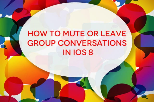 mute get group texts ios  how to leave conversations in