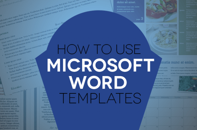 How to use document templates in Microsoft Word Header Image Final Final