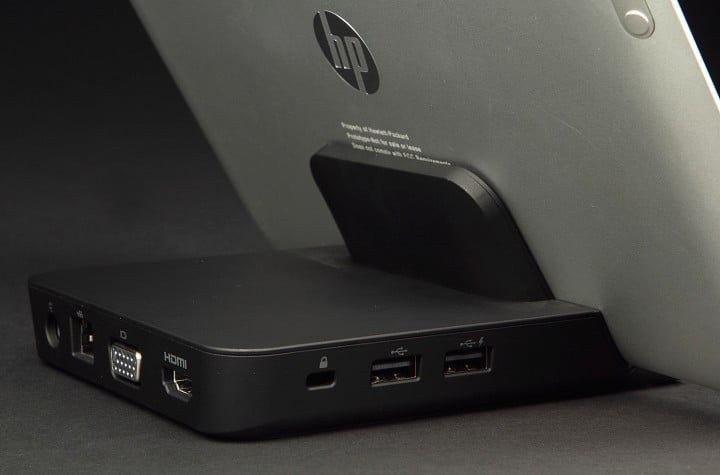 hp elitepad  review docking station ports