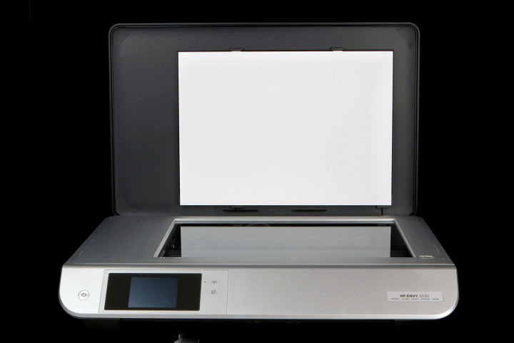 hp envy  review scanner bed open