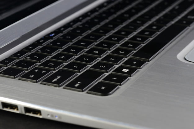 HP Envy Spectre XT Review keyboard angle
