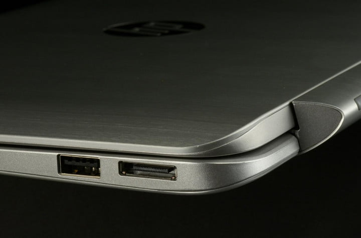 hp envy x  review left side ports macro