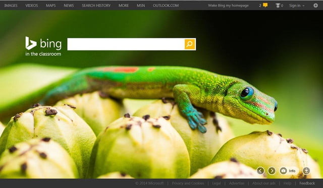 microsofts bing in the classroom launches filters out ads and adult content hp lizard  f afc