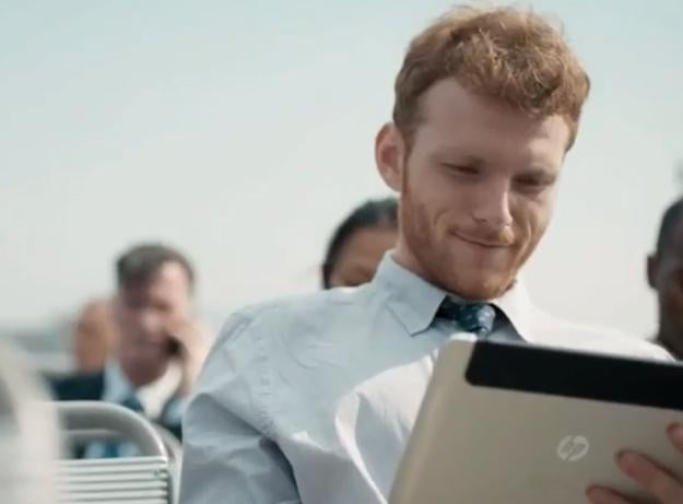 HP mystery tablet outdoors