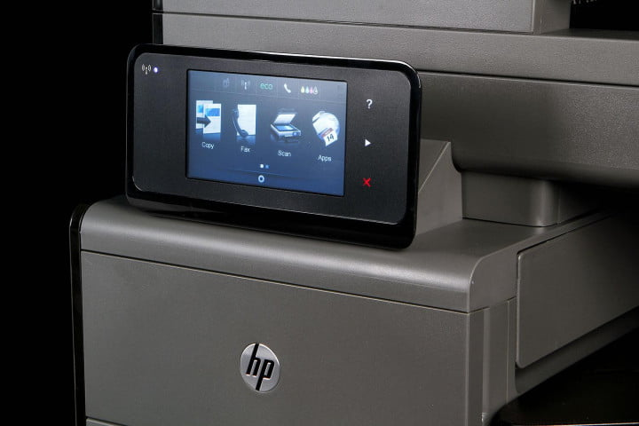 hp officejet pro x  dw mfp review display angle