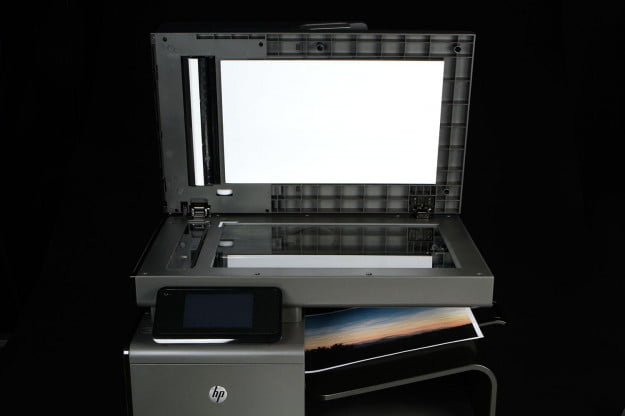 HP OfficeJet Pro X top tray open