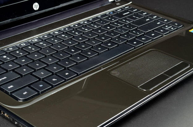 HP Pavilion Chromebook 14 review keyboard angle