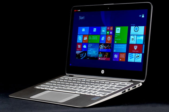 hp spectre  t review front angle open