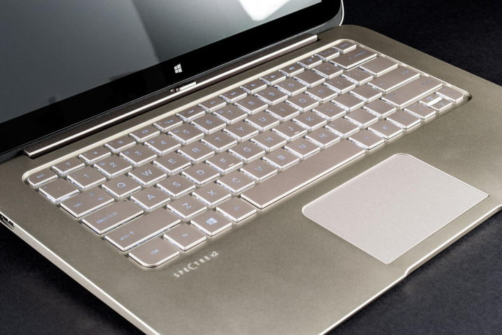 hp spectre  t x review keyboard angle