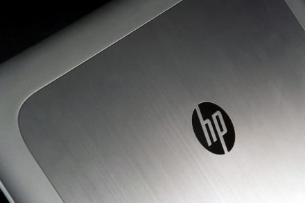HP zBook 15 top back logo