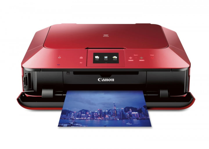 canon pixma mg  and hr as red frontshot sample cl