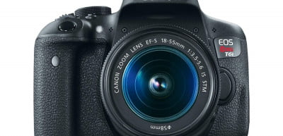 Canon EOS Rebel T6i with EFS 18-55 IS STM lens