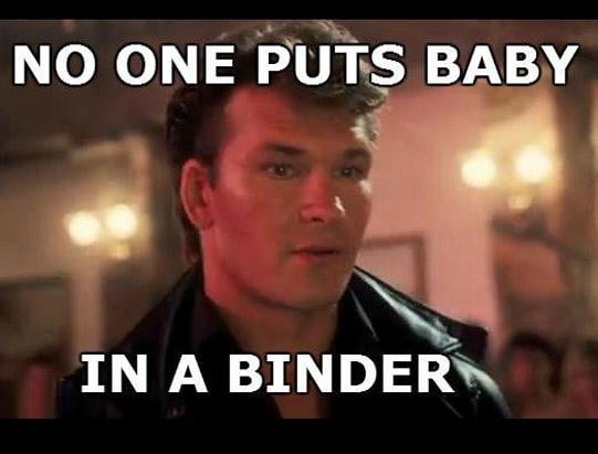 baby in a binder