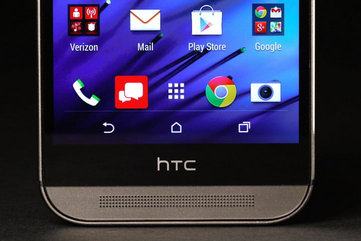 htc one m  review bottom screen