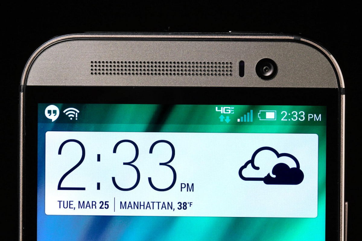 htc one m  problems top screen