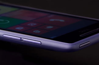 HTC 8XT front top angle