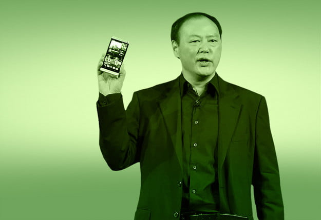 HTC CEO Peter Chou holding the HTC One