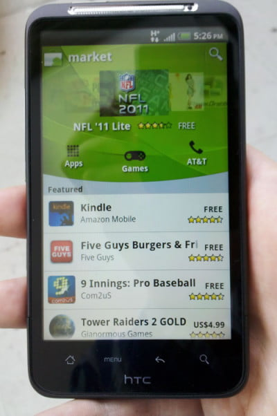 HTC Inspire 4G Android Market