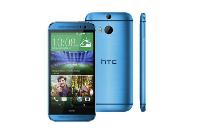 htc one m  now comes in blue and red colors aqua