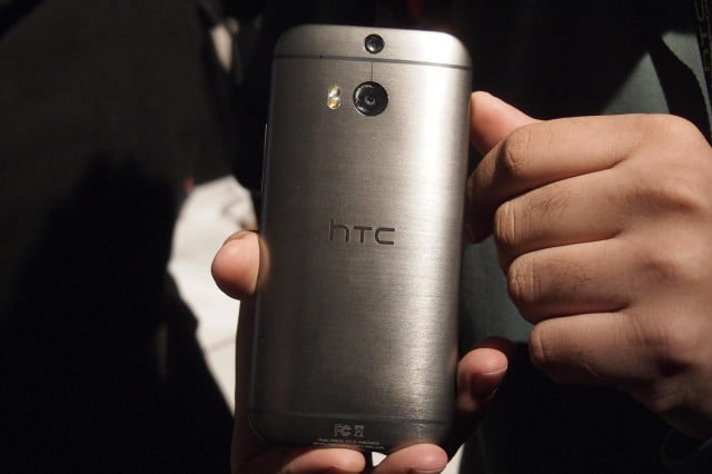 htc wearable tech tablet launch plans one m  hands on rear