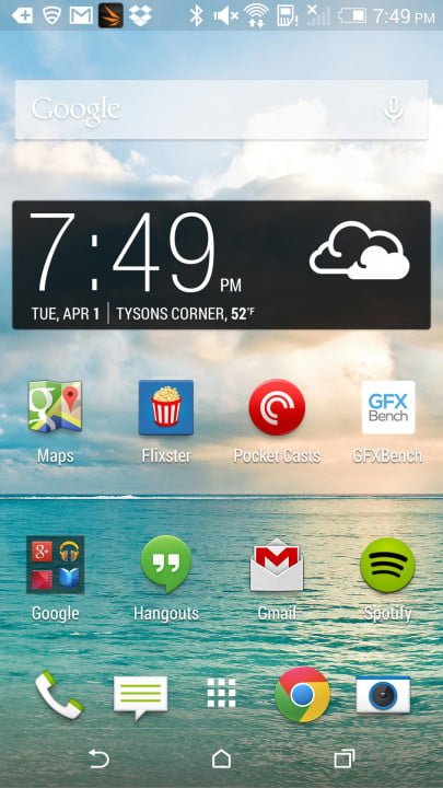 htc one m  review screenshot time