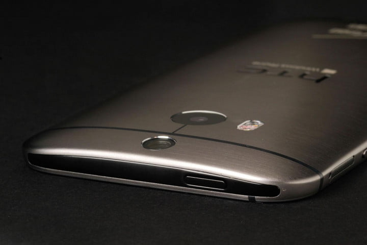 htc one m  windows review top angle