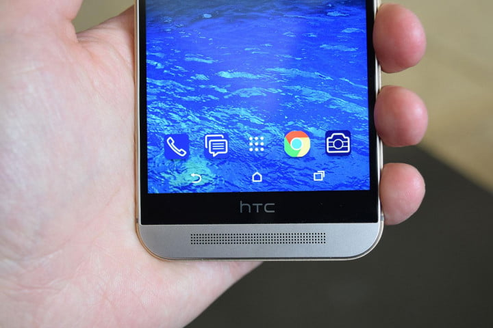 htc one m  hands on front bottom