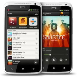 HTC One X music player with Beats Audio