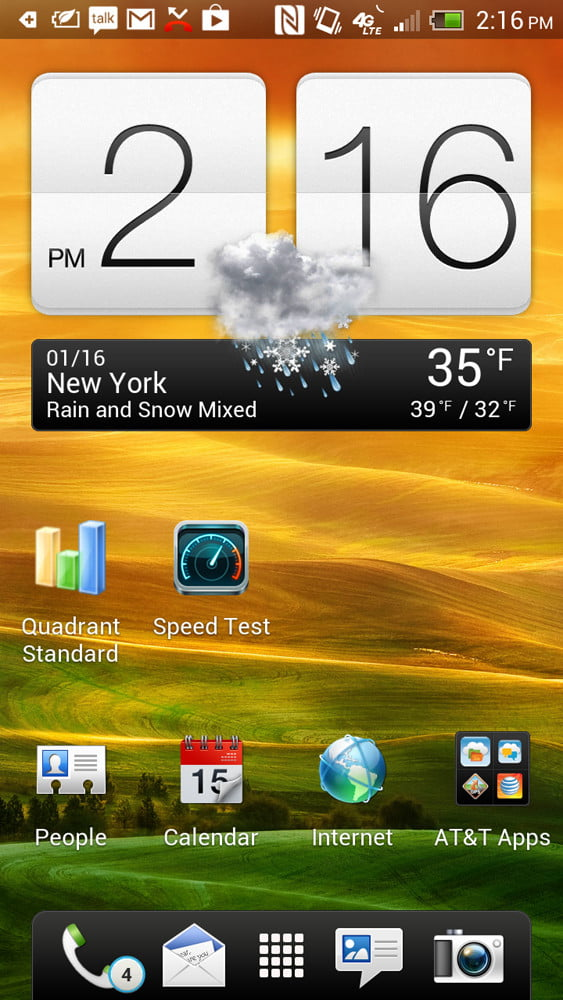 HTC One X Plus review screenshot homescreen android 4.1