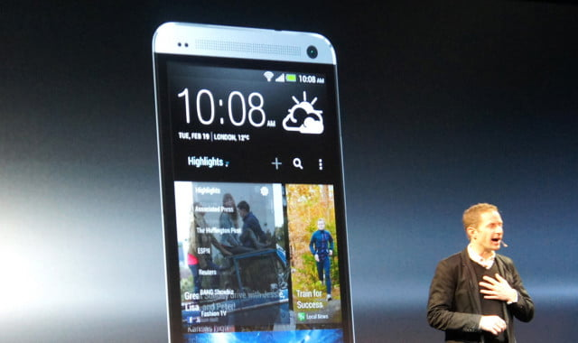 htc  main screen