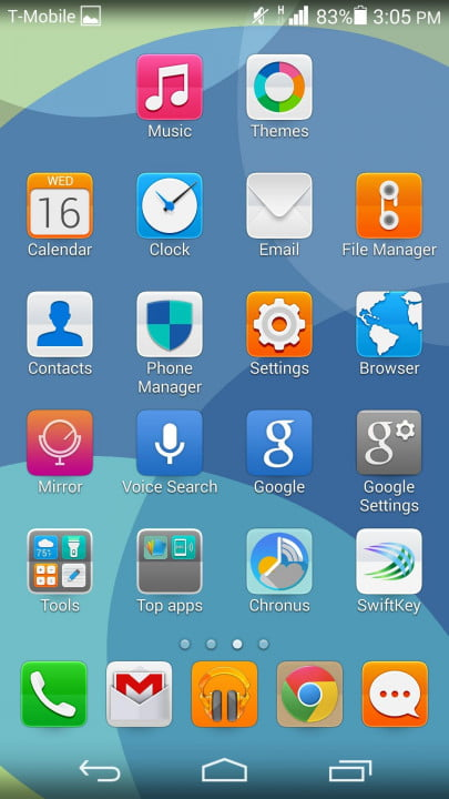 huawei ascend p  review colorful theme
