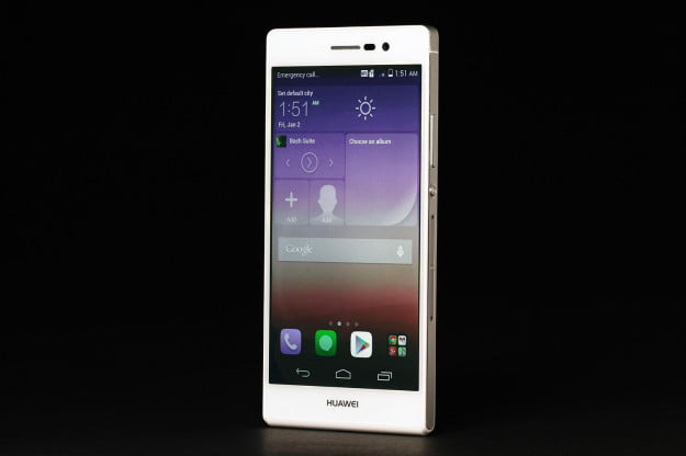 Huawei Ascend P7 review screen angle 2