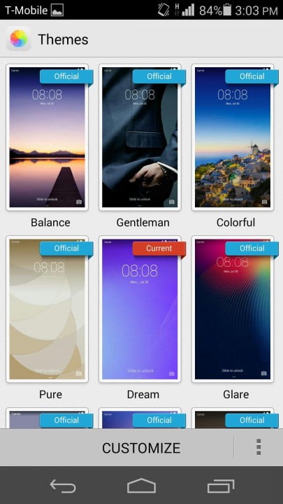 huawei ascend p  review themes