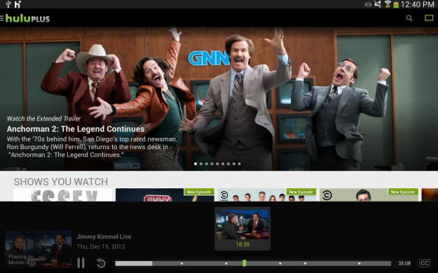 Hulu Plus chromecast screenshot