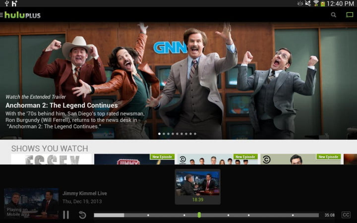 best chromecast apps hulu plus screenshot