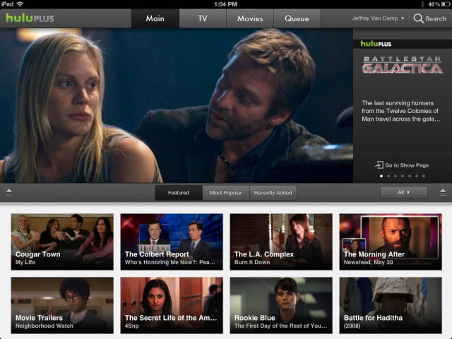 hulu now offers picture in support on ipads plus ipad app screenshot