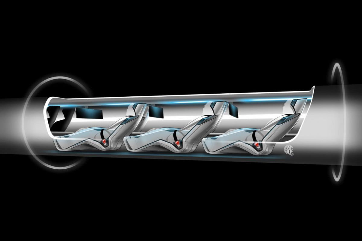 musk details hyperloop high speed transport plans says someone else should build it passenger capsule version cut away