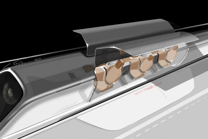 musk details hyperloop high speed transport plans says someone else should build it passenger capsule version with doors open