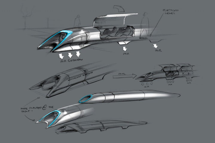 musk details hyperloop high speed transport plans says someone else should build it passenger capsule concept