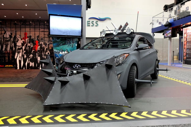 Hyundai unveils Elantra Coupe-based Zombie Survival Machine at Comic-Con