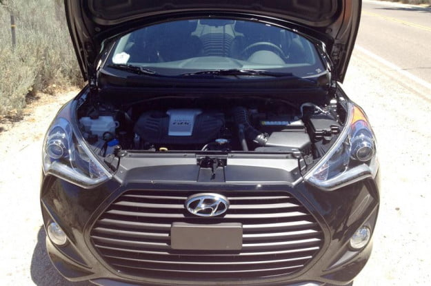 Hyundai Veloster engine hood up v4 1.6 liter