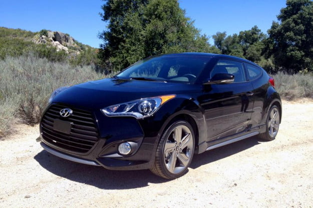 Hyundai Veloster impressions front left view