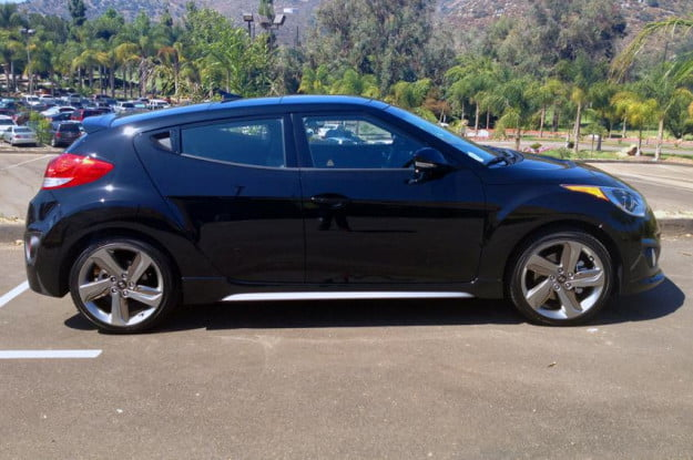 Hyundai Veloster right side parking lot