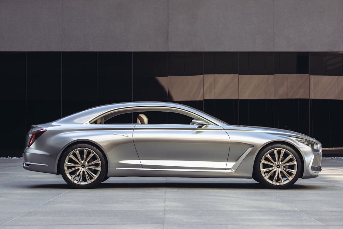 hyundai genesis  series rival vision g coupe concept side