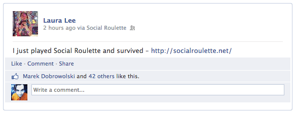 i played social roulette