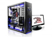 falcon northwest mach v review ibuypower erebus open case monitor
